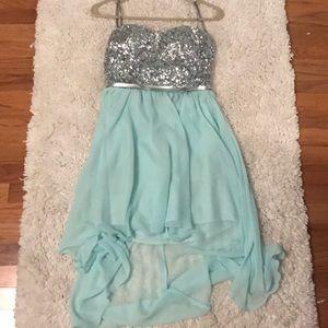 Aqua party dress